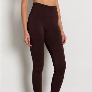 Pants - BROWN HIGH WAIST FLEECE LEGGINGS NWT